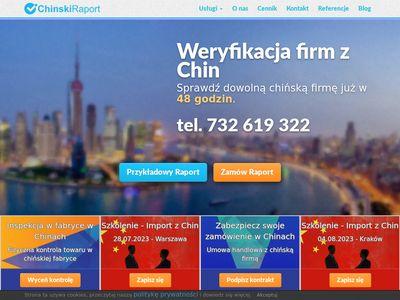 Chinskiraport.pl - weryfikacja firmy