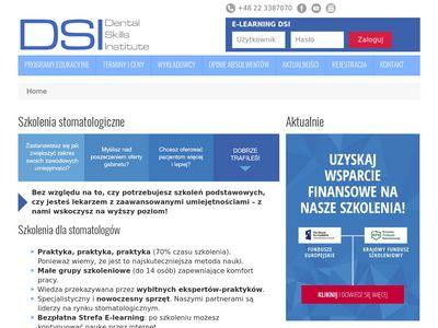 Dsi-edu.com szkolenia dla stomatologów