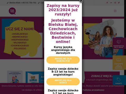 Foryou.edu.pl - kurs angielskiego Bielsko