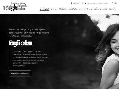 Michalgebal.pl fotograf ślubny Kraków