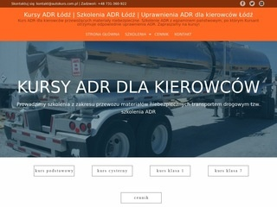 Autokurs.com.pl uprawnienia adr Łódź