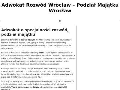 Rozwod-i-podzial-majatku.pl - adwokat Wrocław