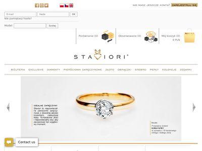 Staviori.pl pierścionki zaręczynowe białe złoto