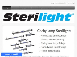 Sterilight.weebly.com - lampy UV