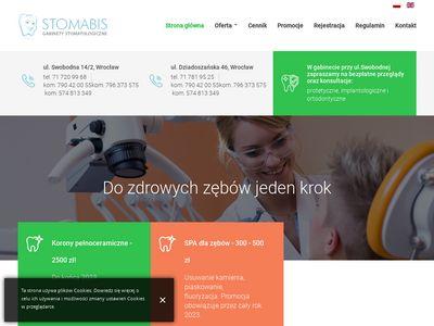 Stomabis.pl dentystyczny gabinet wybiela zęby