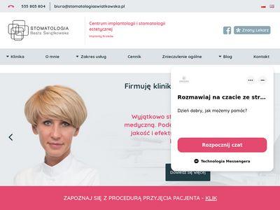 Stomatologiaswiatkowska.pl implanty zębowe Kraków