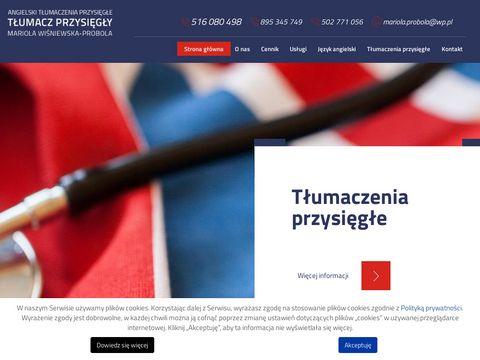 Tlumaczeniaprzysiegleangielski.pl Olsztyn