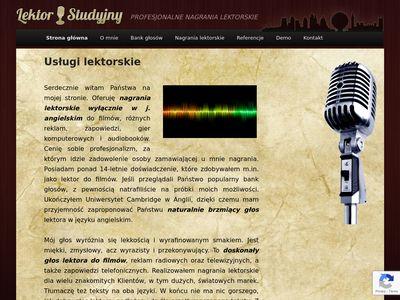 Uslugilektorskie.pl - lektor do filmów reklamy