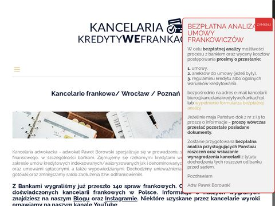 Kancelariakredytywefrankach.pl adwokat