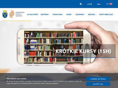 Jcj.uj.edu.pl język hiszpański Kraków