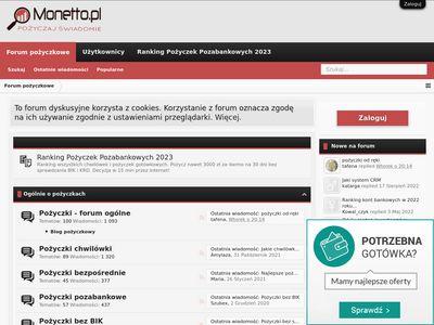 Forum Monetto - opinie o pożyczkach