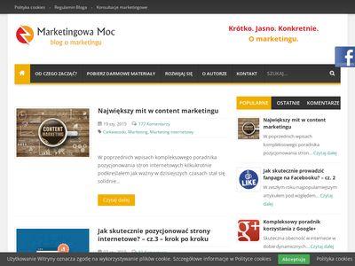 Marketingowa-moc.pl - blog o marketingu