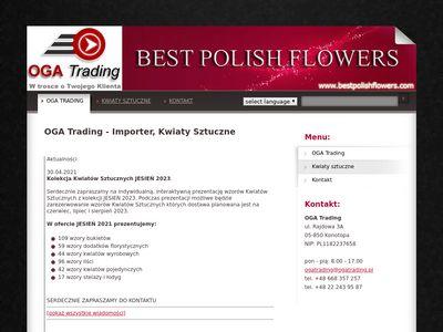 OGA Trading importer kwiaty sztuczne