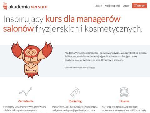 Akademiaversum.pl - szkolenia fryzjerskie