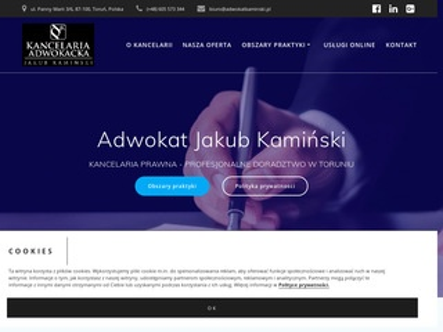 Adwokat Toruń - Jakub Kamiński