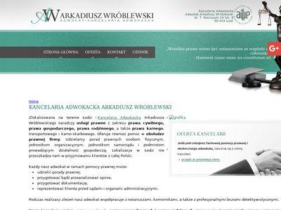 Adwokatwroblewski.com.pl w łodzi