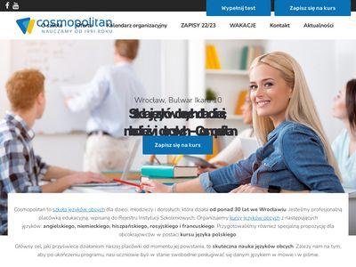 Cosmopolitan.edu.pl szkoła języków obcych