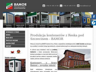 Bamor kontenery producent Szczecin