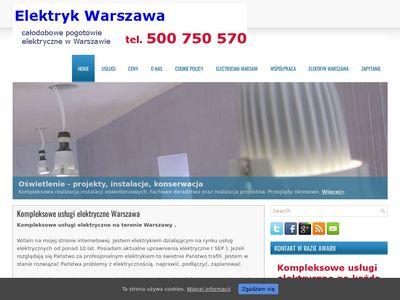 Elektryk Warszawa, instalacje Warszawa