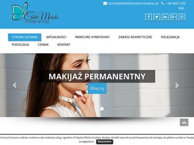 Efekt Motyla - manicure hybrydowy Kraków