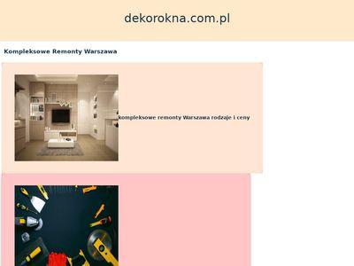 Dekorokna.com.pl dekoracje okienne - Warszawa