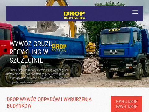 Droprecykling.pl kontenery na gruz Szczecin