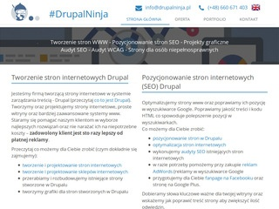 Drupalninja.pl tworzenie stron www Poznań