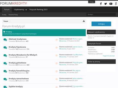Forum dłużników - kredyty dla zadłużonych