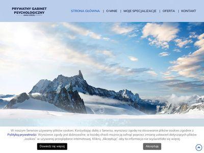 Psycholog A. Kiedel psychoterapia
