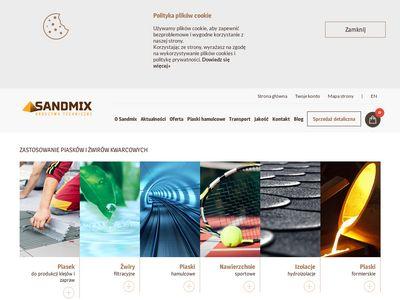 Sandmix sprzedaż kruszyw budowlanych