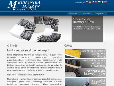 Mechanika Maszyn szczotki przemysłowe producent