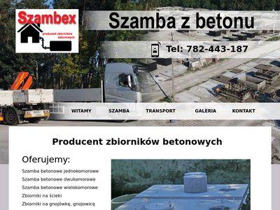 Szambex szamba betonowe