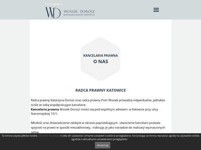 Wosiekdorosz.pl kancelaria radcy prawnego Katowice
