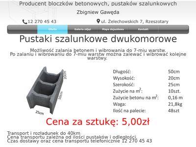 Zbigniew Gawęda bloczki betonowe
