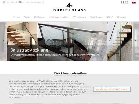 Dubiel Glass przesuwne drzwi szklane