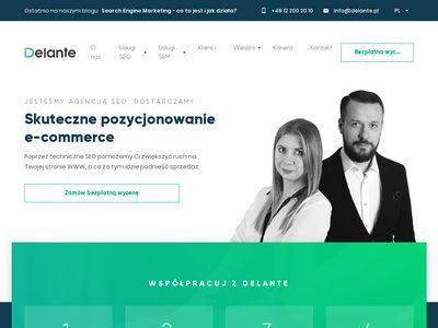 Delante.pl - pozycjonowanie stron Kraków