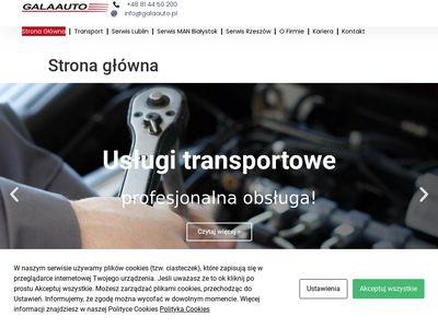 Galaauto przewóz towarów