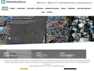 Galazkarecykling.pl kasacja samochodów Olsztyn