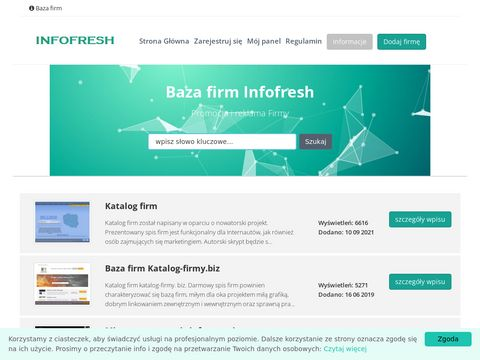 Infofresh.pl spis firm