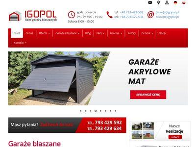 Igopol.pl - wiaty blaszane