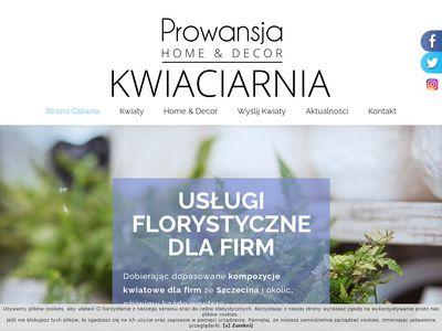 Prowansja kwiaciarnia Szczecin, dekoracje ślubne