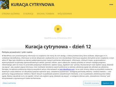 Kuracjacytrynowa.wordpress.com