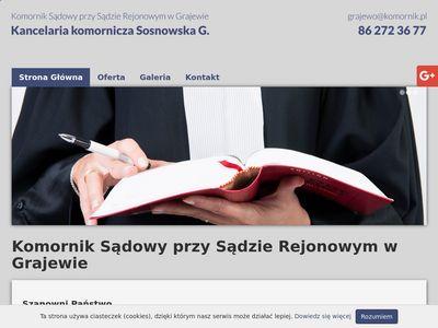 Komornik-grajewo.pl sądowy