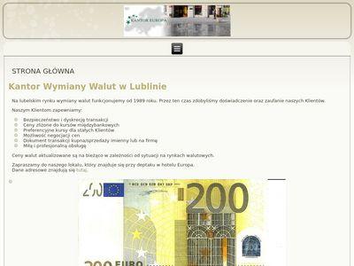 Kantor Wymiany Walut Europa