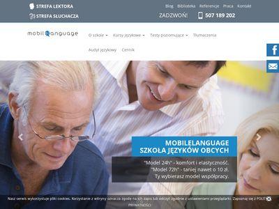 Mobilelanguage.pl - nauka angielskiego