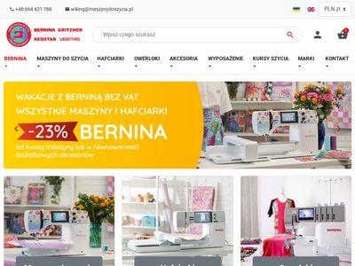 Maszynydoszycia.pl - hafciarki sprzedaż